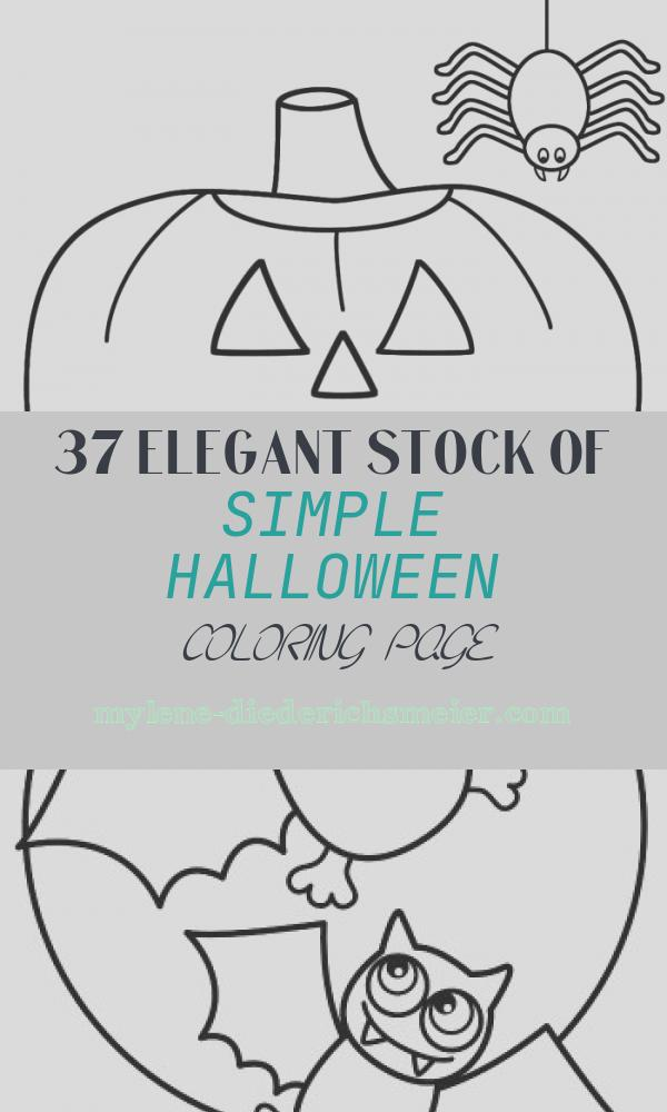 Simple Halloween Coloring Page Lovely Printable Coloring Pages for toddlers