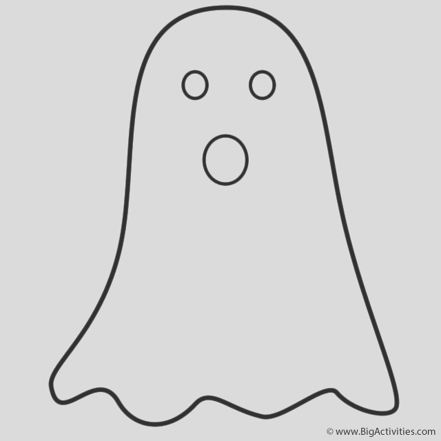simple ghost sketch templates