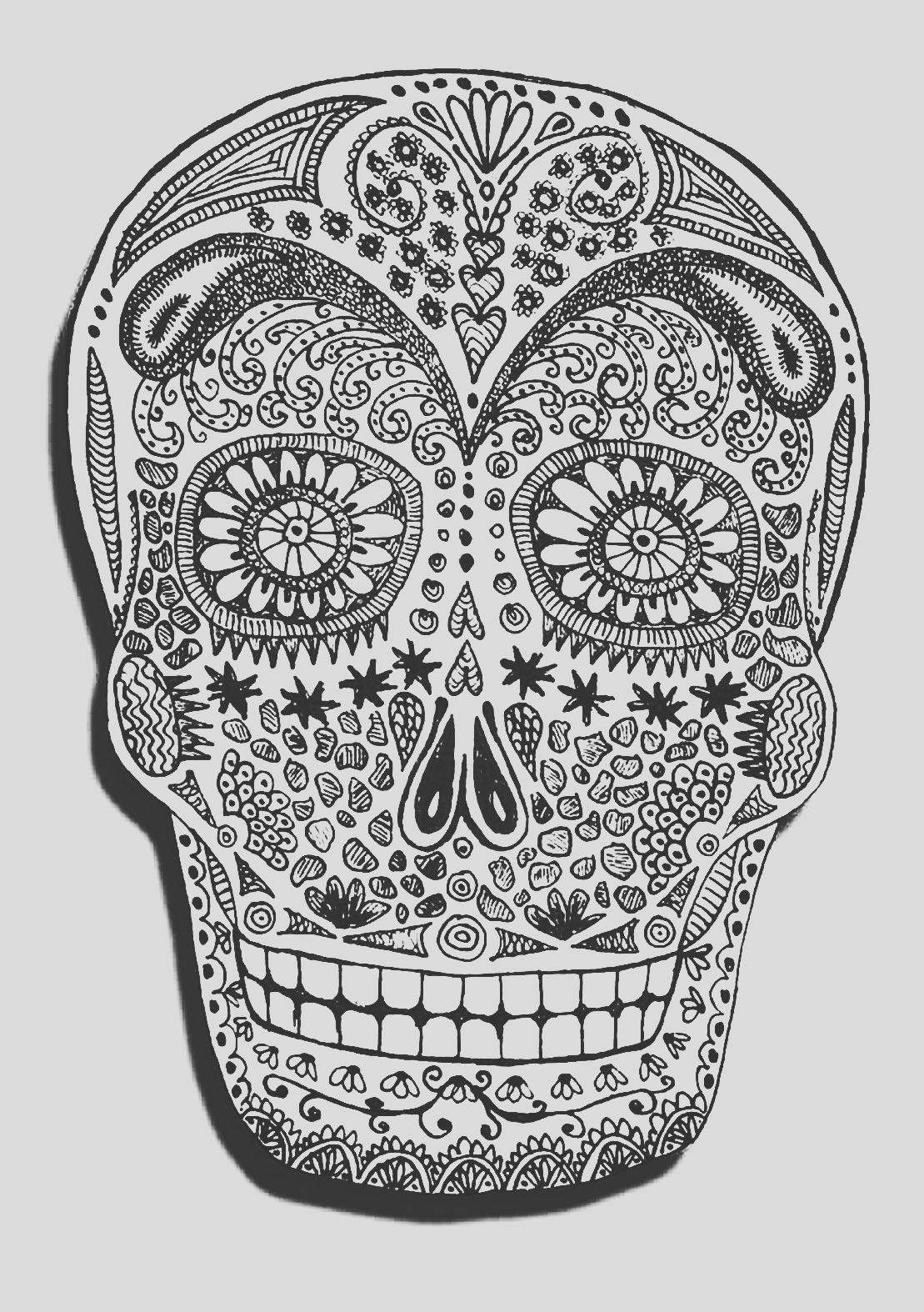 halloween adult coloring pages image=events halloween coloring adult halloween skeleton head 1
