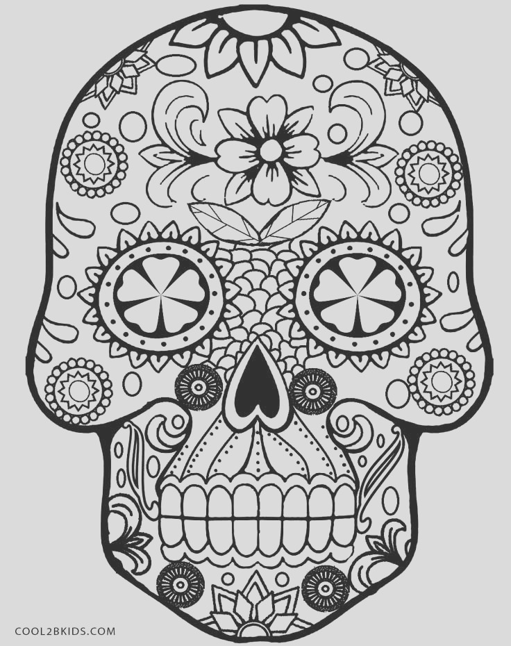 skull coloring pages