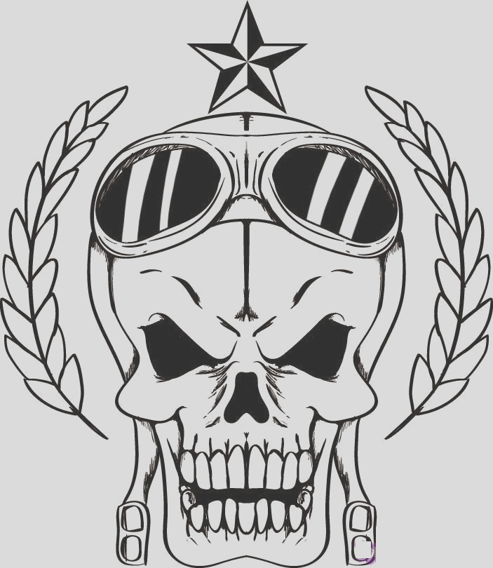 skull free printable coloring pages