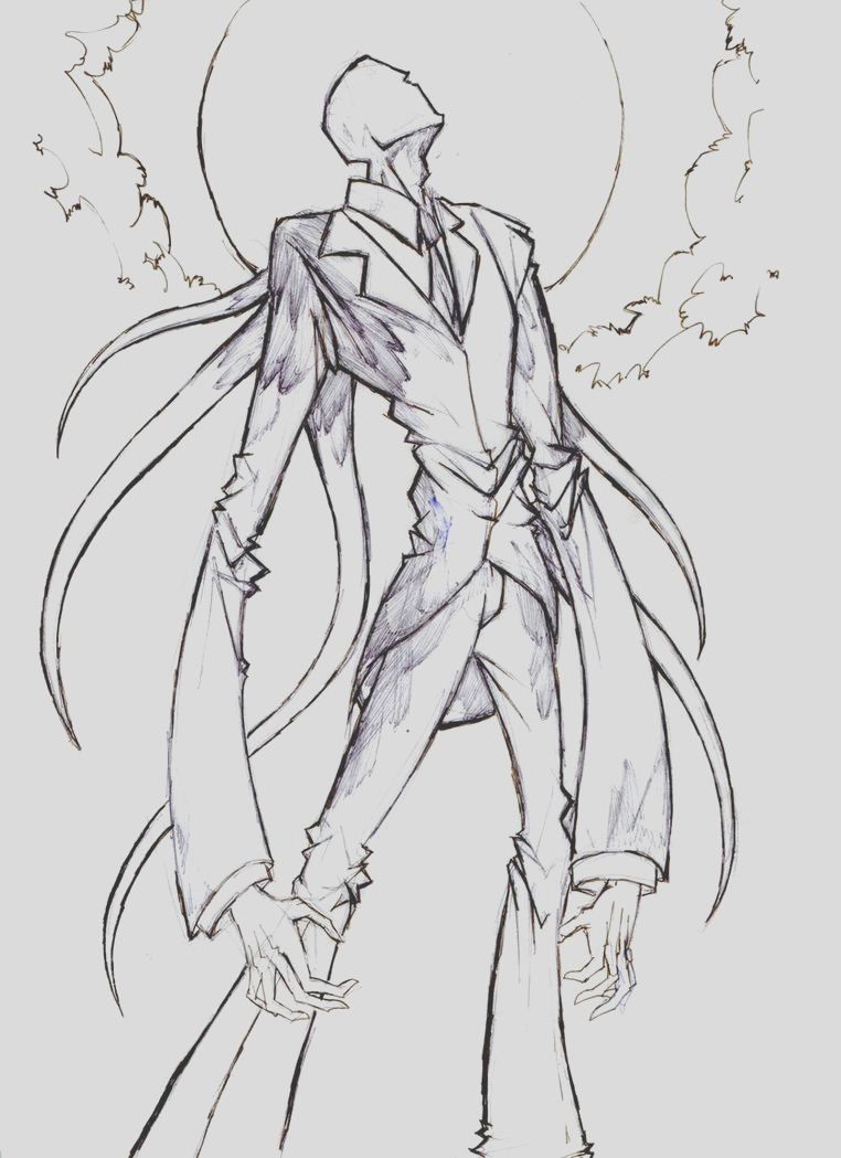 scary slender man coloring pages sketch templates