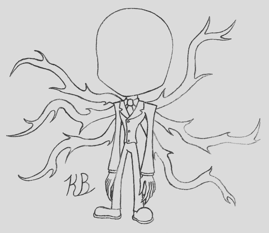 slender man coloring pages sketch templates