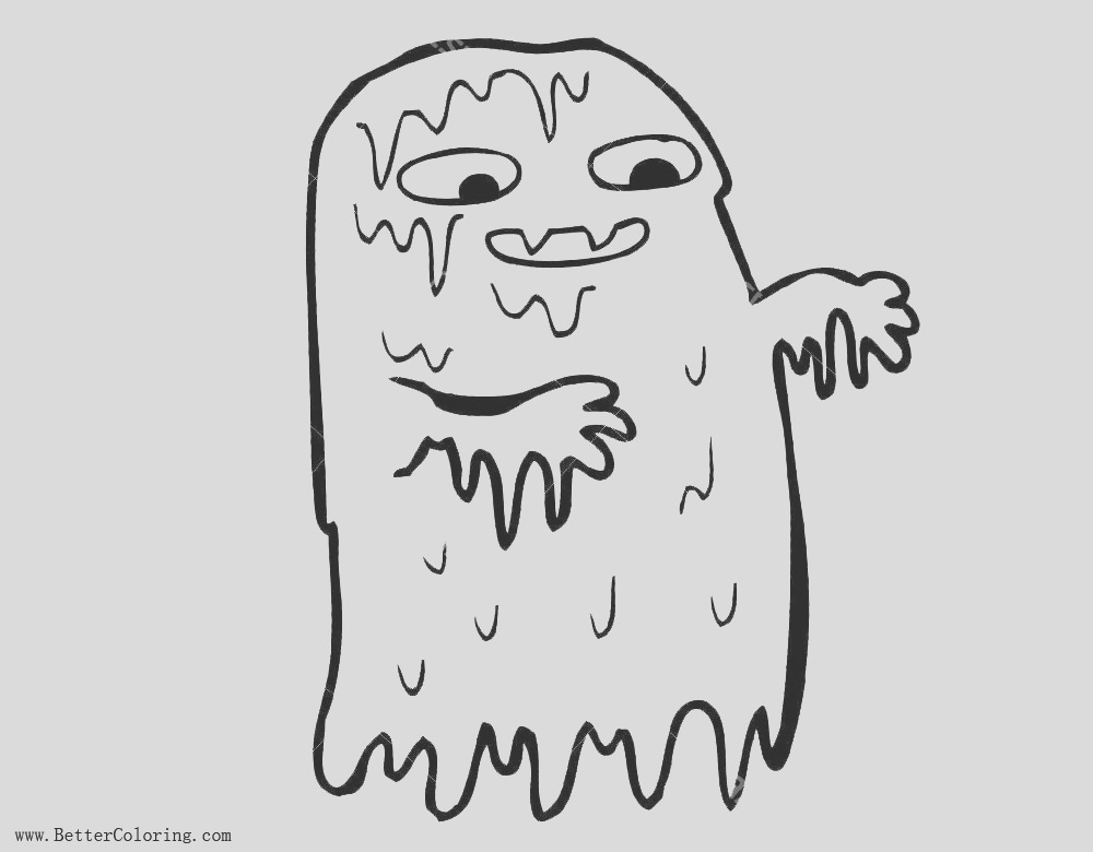 gross slime coloring pages ghost
