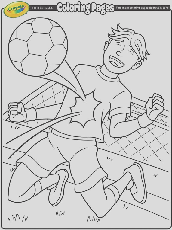 soccer star coloring page