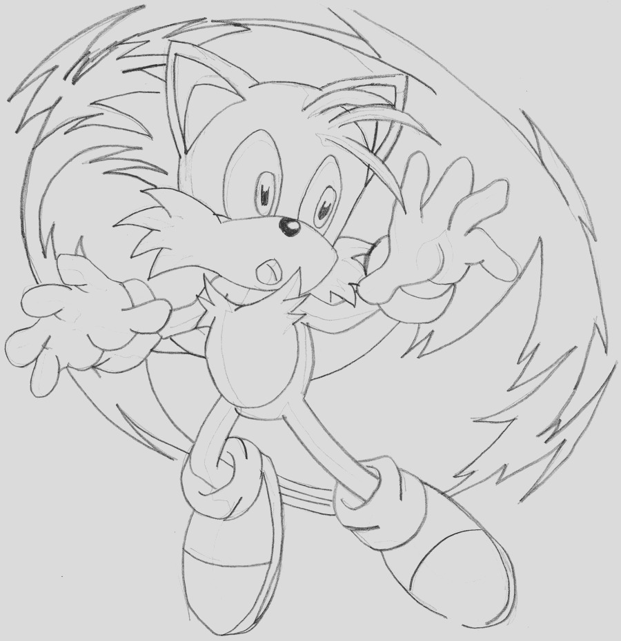 sonic drawing pictures