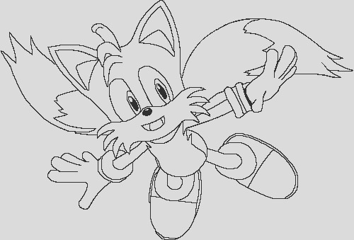 Tails Coloring Page v2