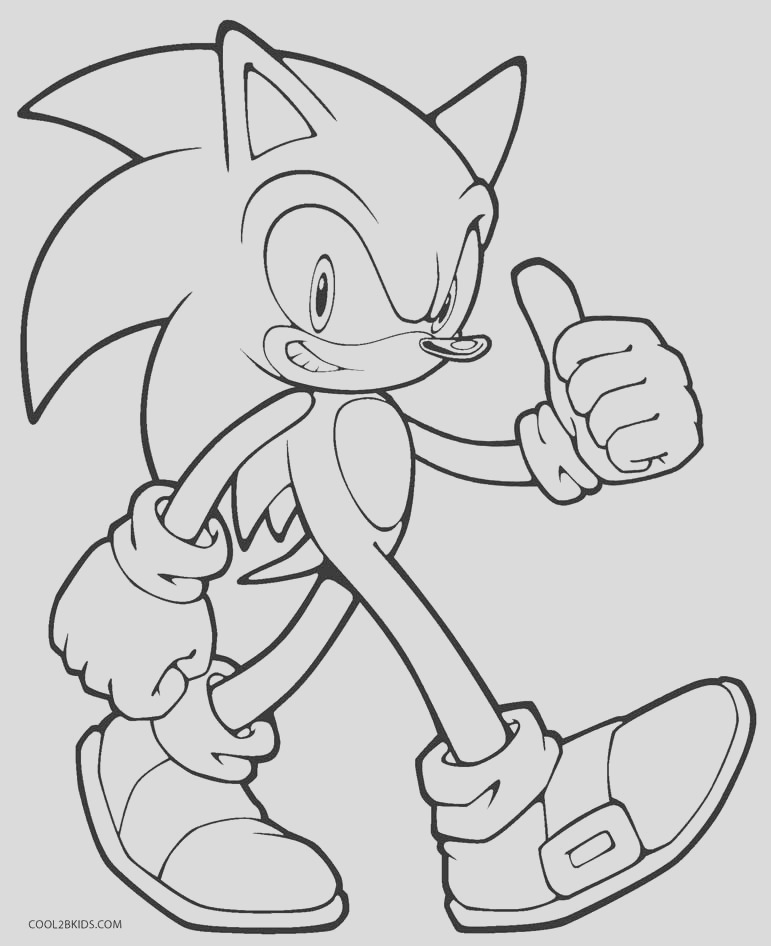 sonic coloring pages