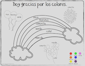 spanish thanksgiving vocabulary coloring pages