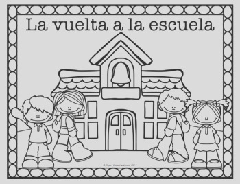 Spanish French German Back to School Coloring Pages FREEBIE