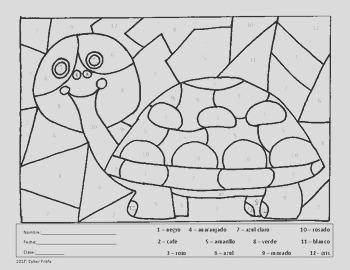 Free Spanish Coloring Page