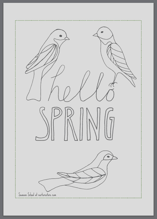 spring coloring sheets printables children