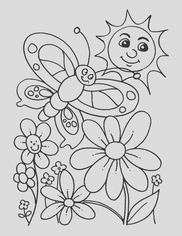 everybody is happy when spring is here coloring page
