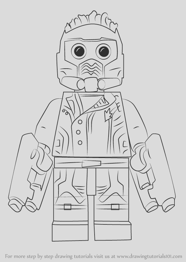 how to draw lego star lord