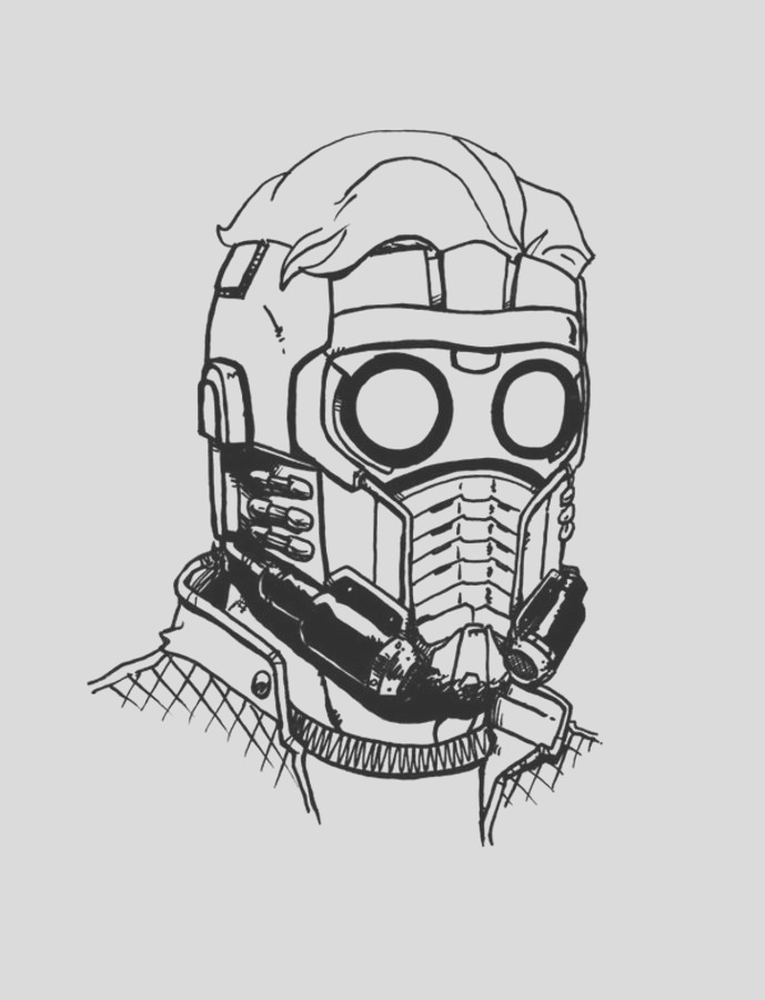 star lord pages sketch templates