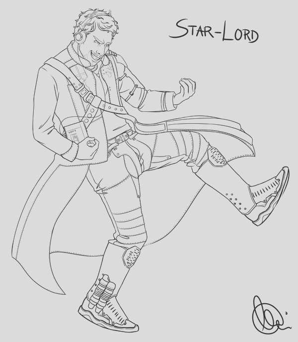 star lord disney infinity coloring page sketch templates