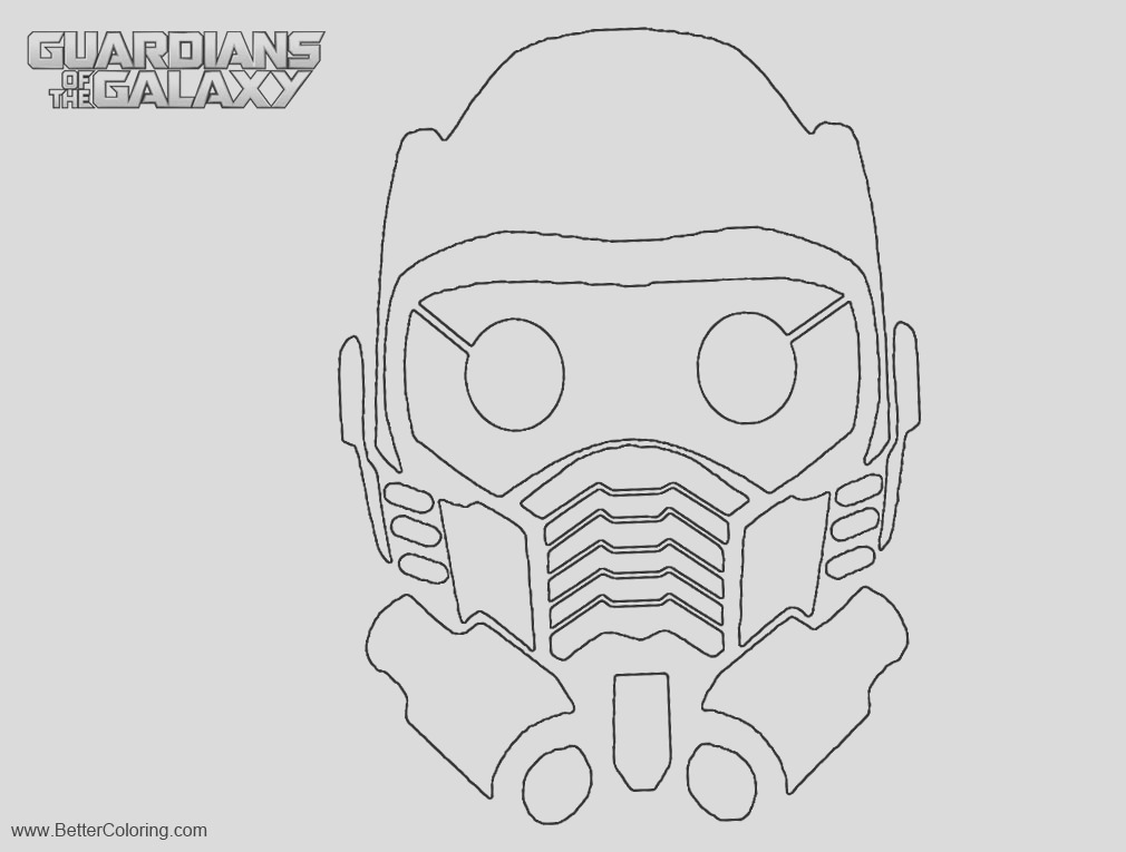 guardians of the galaxy coloring pages star lord mask