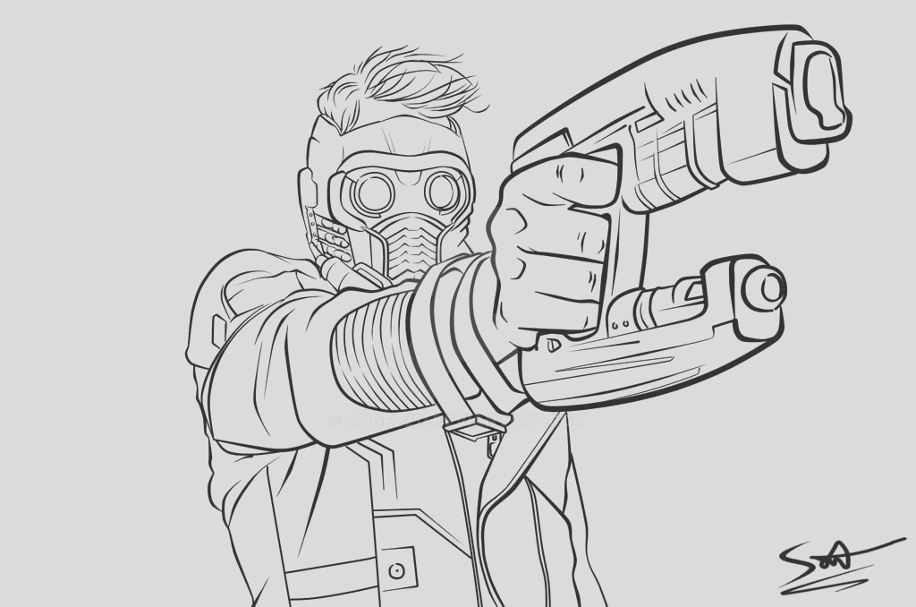 Star Lord Lineart