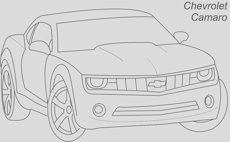 7317 Super car Chevrolet camaro coloring page for kids