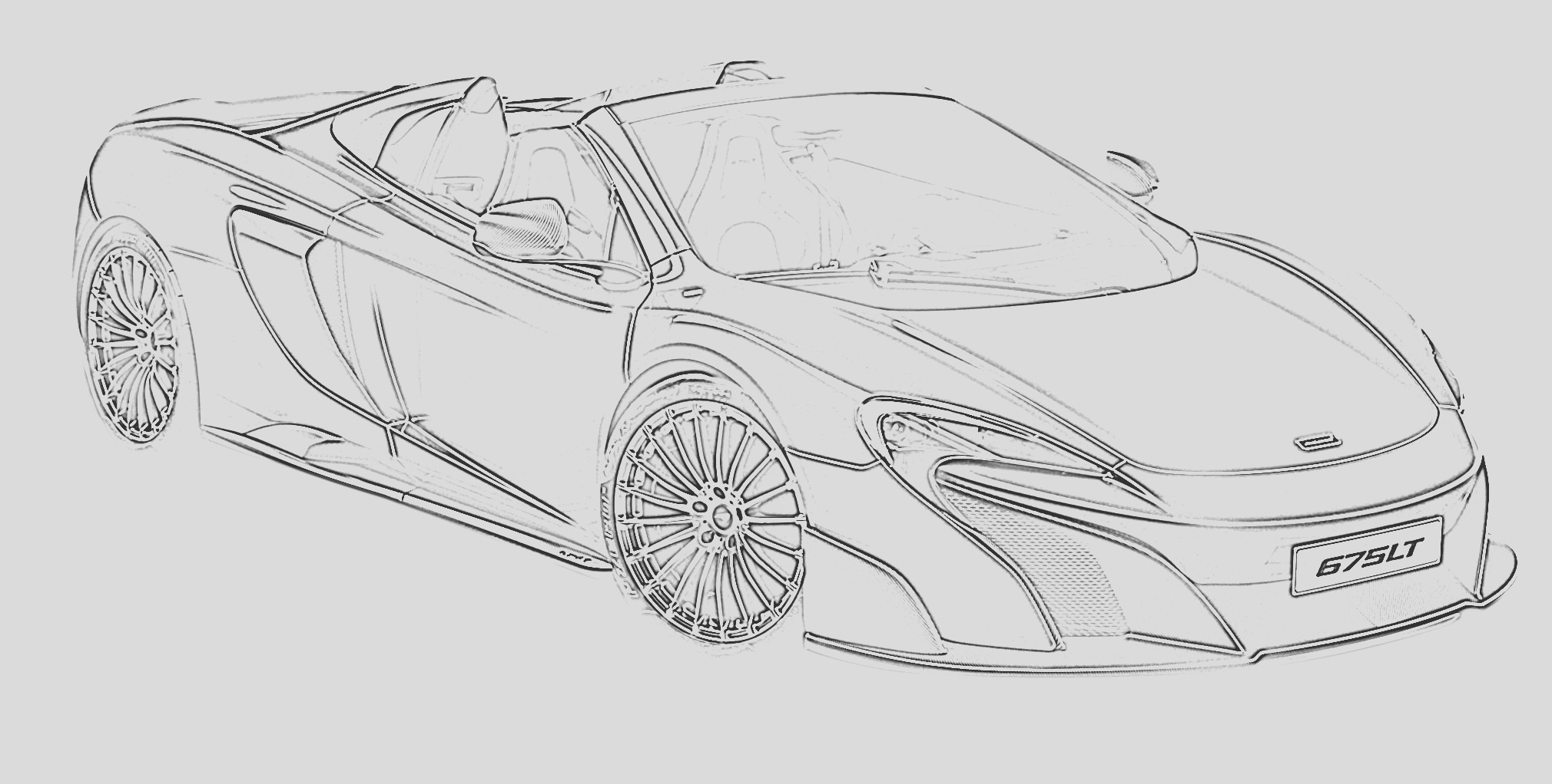 free sports car coloring pages