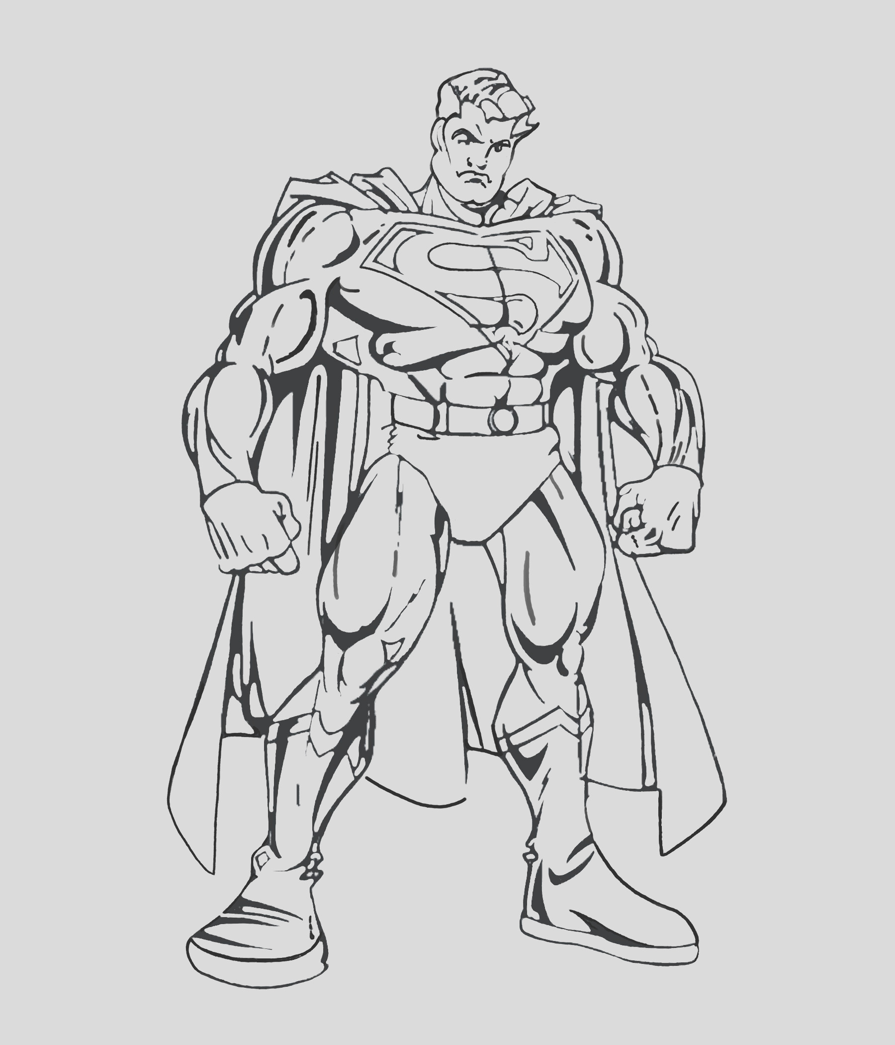 image=superman Coloring for kids superman 1