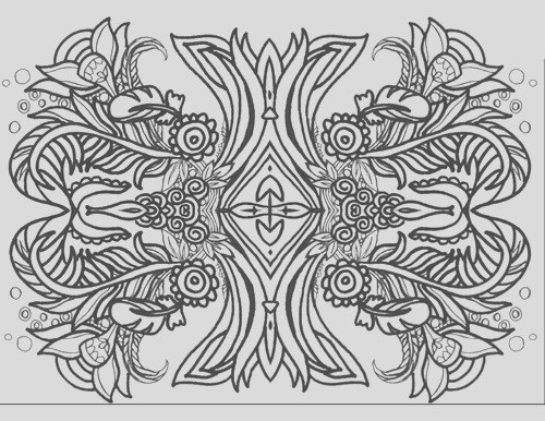 25 coloring pages of symmetrical designs