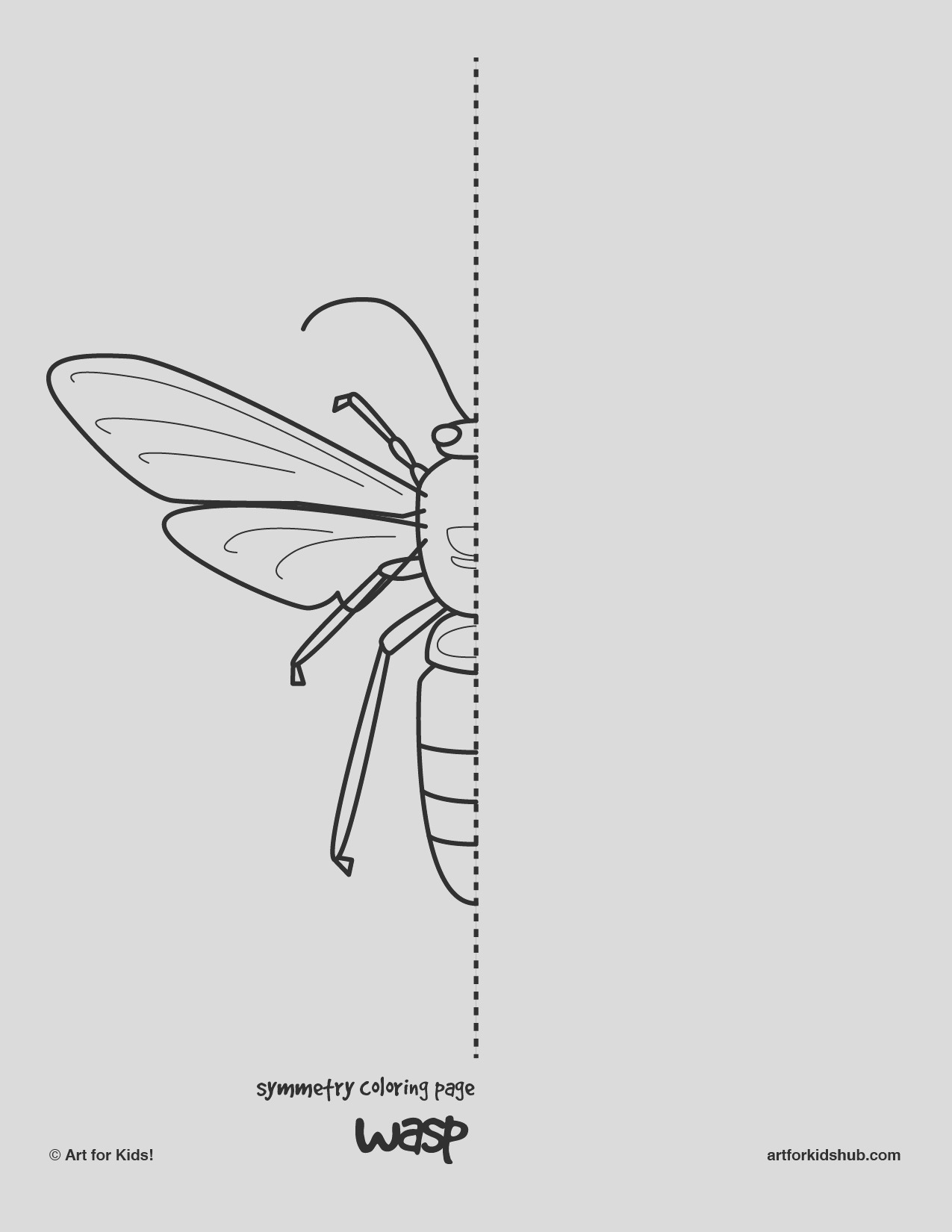 10 free coloring pages bug symmetry