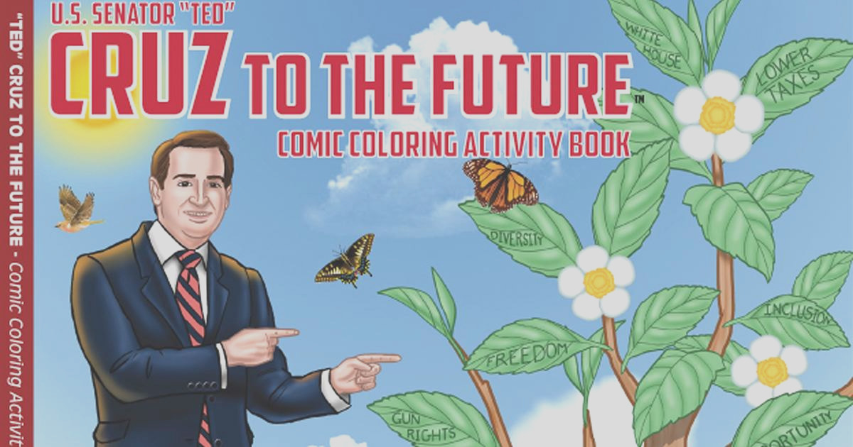 ted cruz coloring book selling out fast 2d