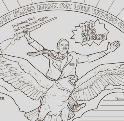 new ted cruz coloring book falsely