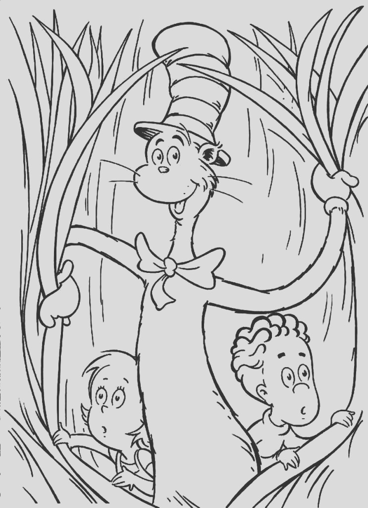 cat in the hat coloring pages