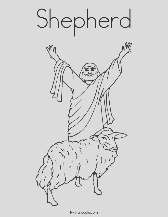 the lord is my shepherd coloring pages