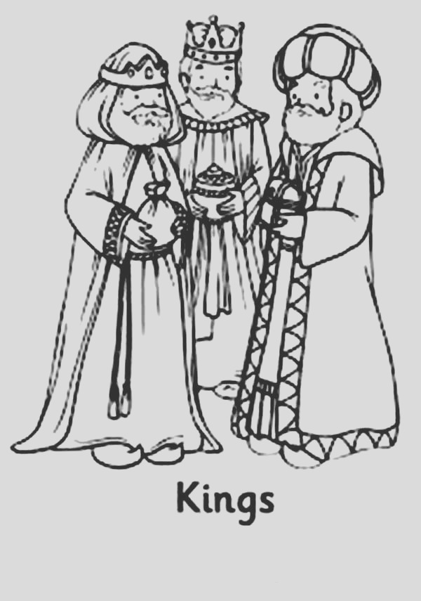 the three kings men coloring pages