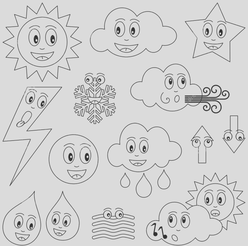 thunderstorm coloring pages sketch templates