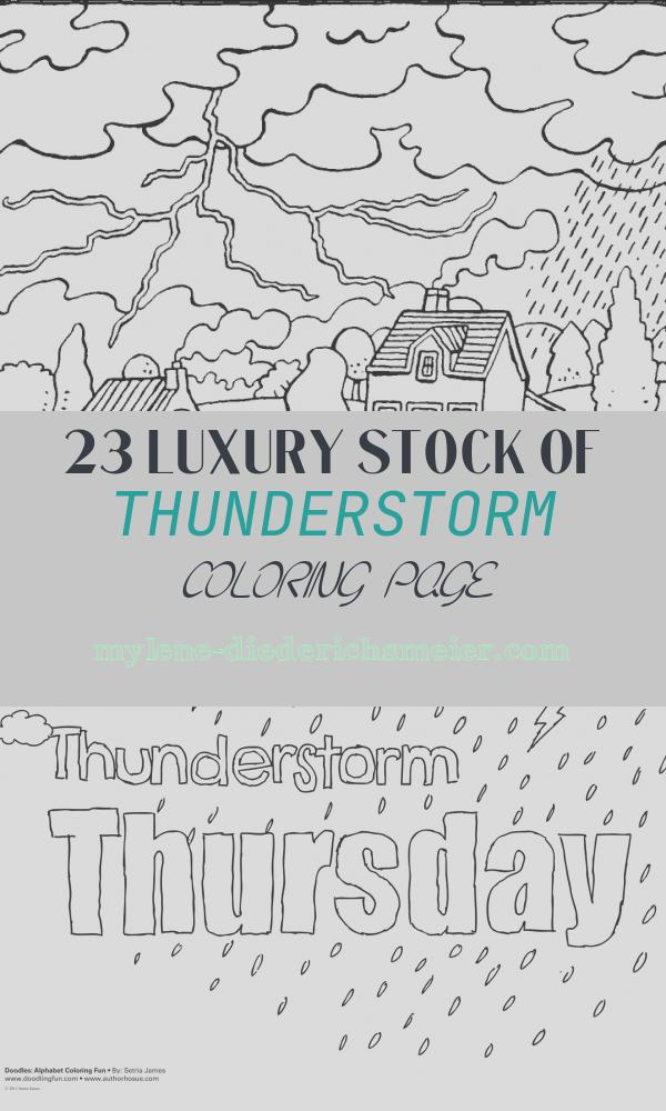 Thunderstorm Coloring Page Beautiful 7 9 Years Colouring Pages Per Age Kiddi Kleurprentjes