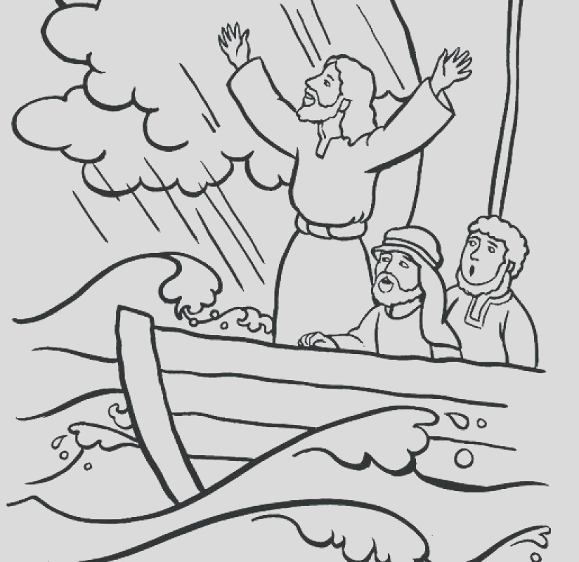 thunderstorm coloring page