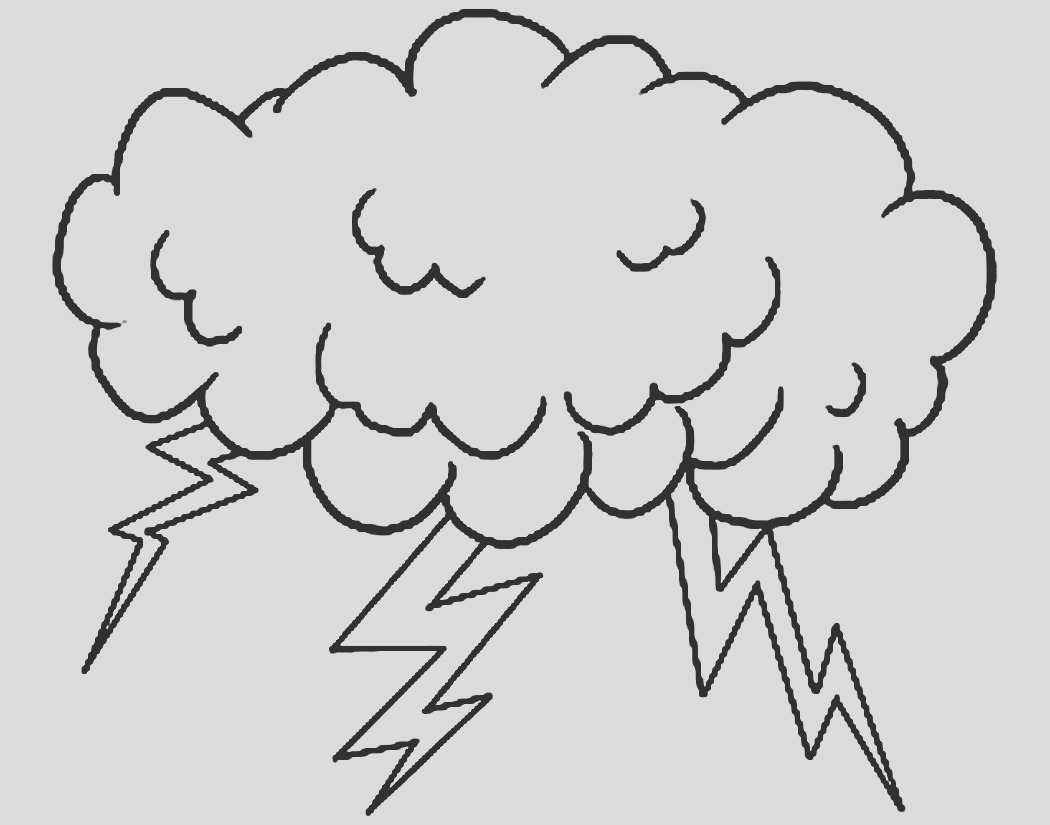 thunderstorm drawing