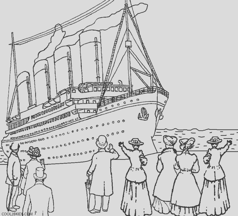 titanic coloring pages