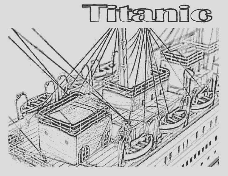 coloring pageslineart titanic