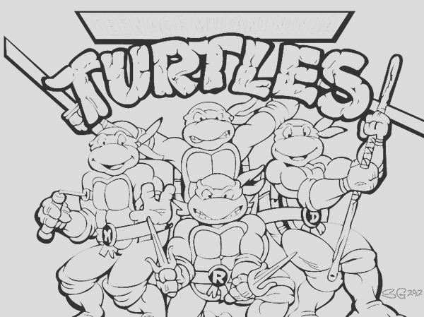 TMNT coloring page