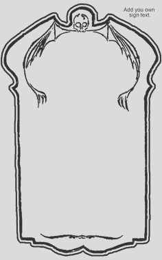 tombstone outline