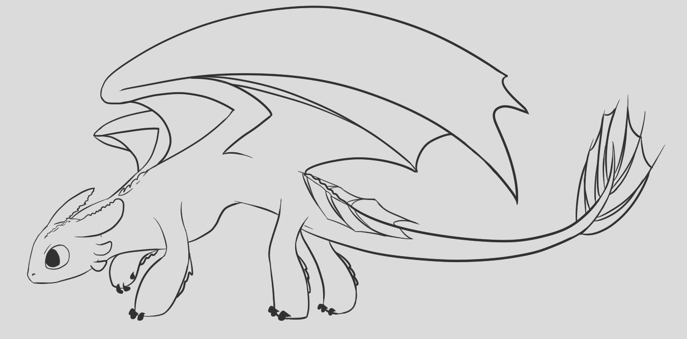 toothless coloring pages