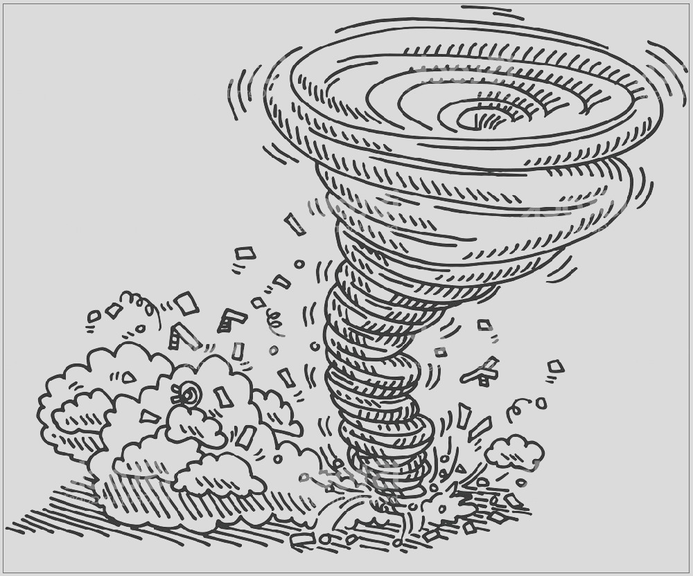 tornado coloring pages for kids
