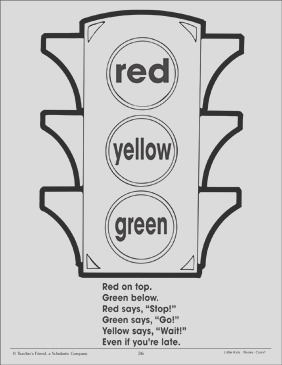 traffic light and color poem using three colors 030