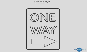 traffic sign colouring pages for kids one way sign