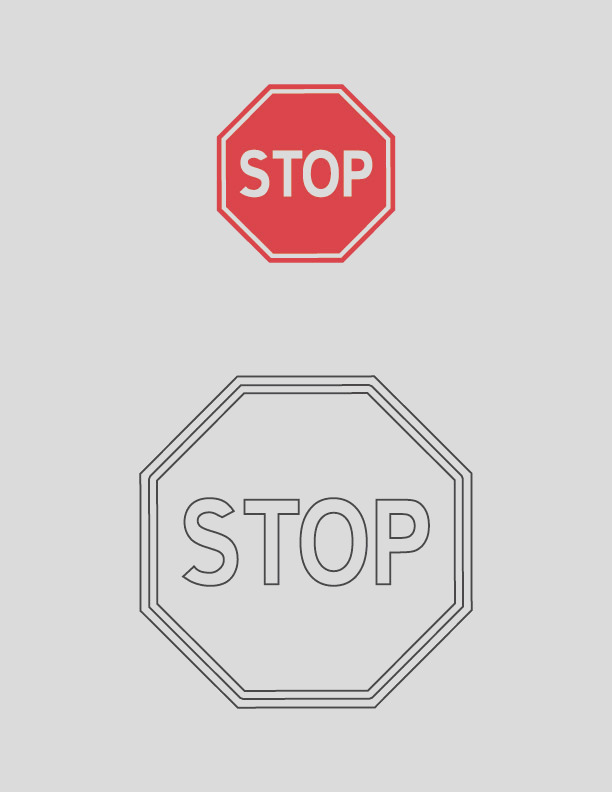 stop traffic sign coloring page 1d2231