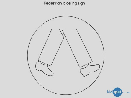 traffic sign colouring pages for kids pedestrian crossing sign