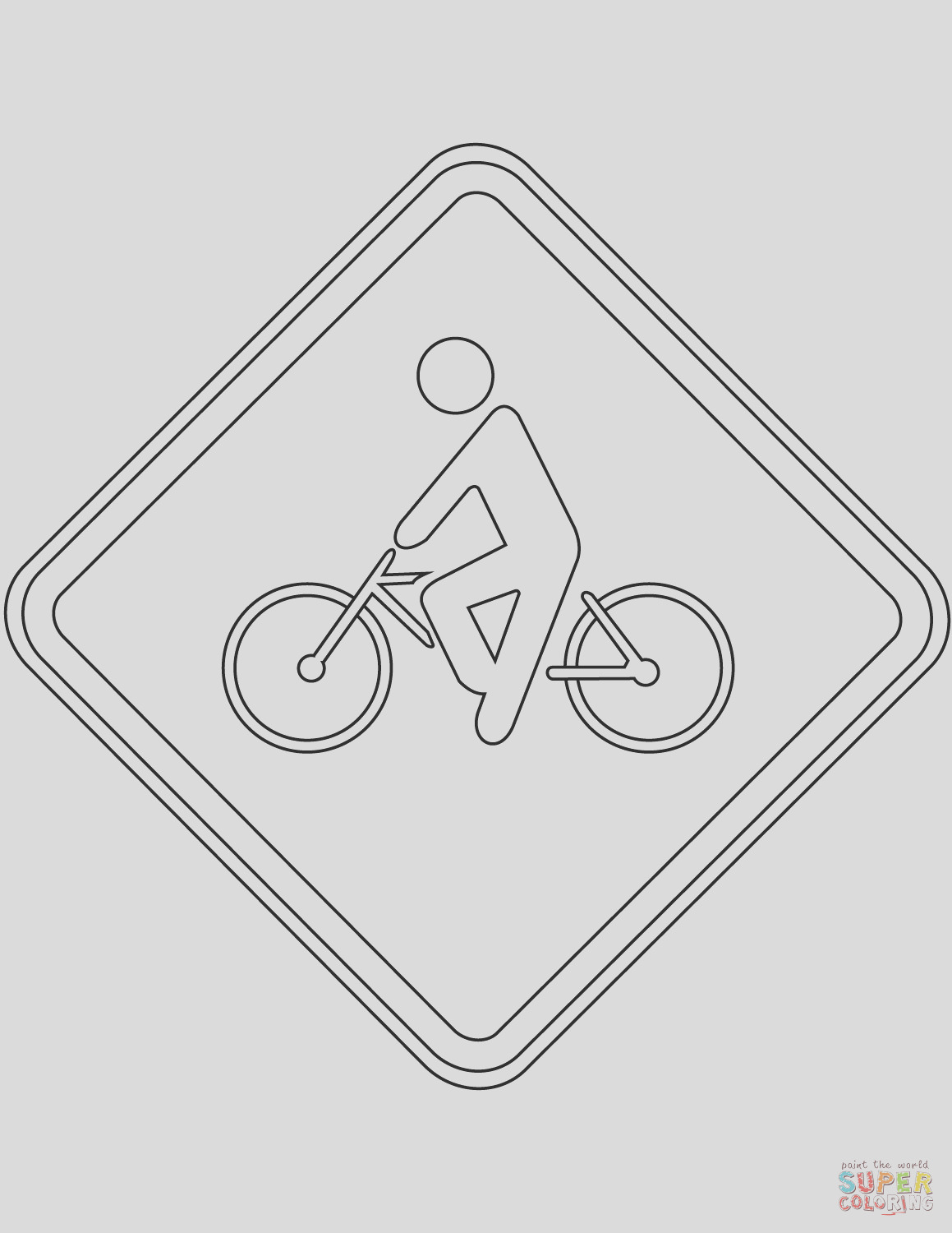 cyclist traffic sign in brazil
