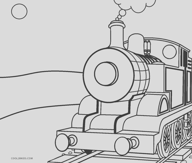 train coloring pages