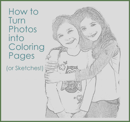 from photos to coloring pages or sketches