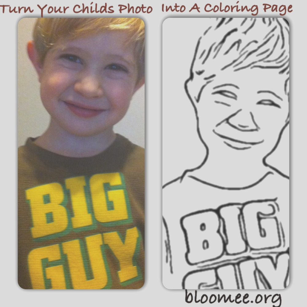 turn your childs photo into a coloring page